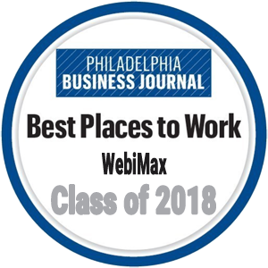 WebiMax Recognized as a Best Places to Work Recipient by the Philadelphia Business Journal