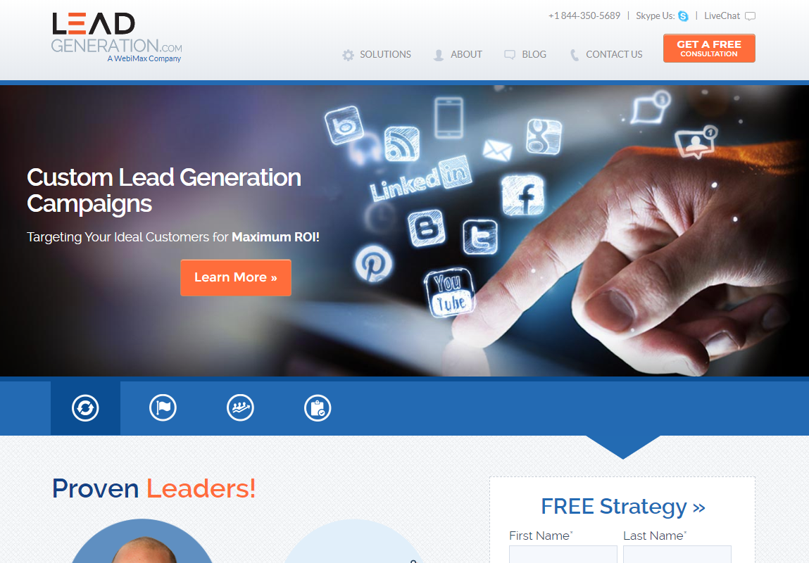 Digital Agency WebiMax Announces the Launch of the Newly Redesigned LeadGeneration.com