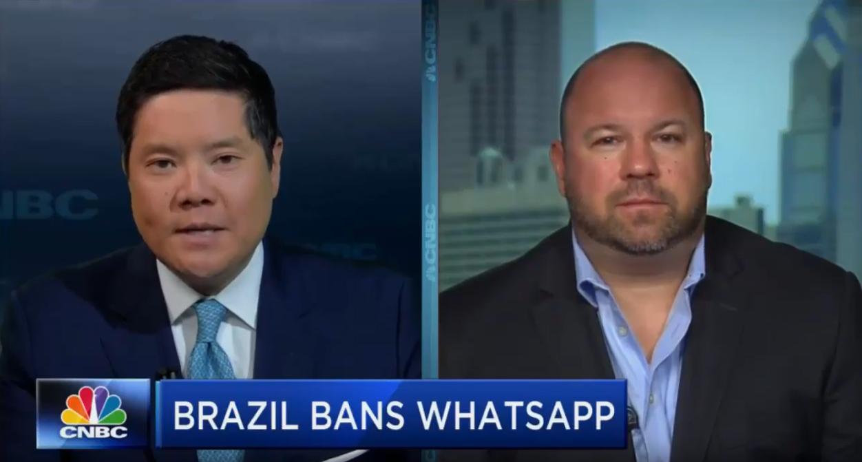 WebiMax CEO Ken Wisnefski | Brazil What's App Shutdown | CNBC